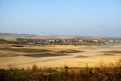 Città Abovyan dal Mt Avazahanq, Armenia Immagine Stock