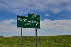 Città ad ovest della valle Fotografie Stock