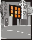 Città alla notte illustrazione di stock
