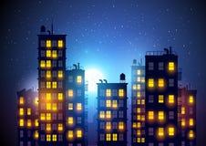 Città alla notte royalty illustrazione gratis