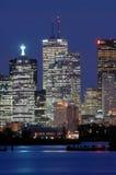 Città alla notte Fotografie Stock
