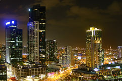 Città alla notte - Melbourne Fotografia Stock