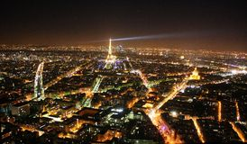 Città alla notte, Parigi, Francia Fotografia Stock