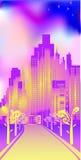 Città allegra illustrazione vettoriale