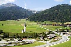 Città alpina Fotografia Stock Libera da Diritti