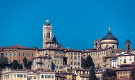 Città Alta. View on Bergamo, Italy Royalty Free Stock Photography