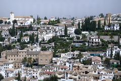 Città andalusa. Granada, Spagna Fotografie Stock Libere da Diritti