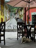 Città andina Alausi, provincia di Chimborazo, Ecuador fotografia stock libera da diritti