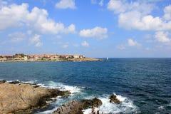 Città antica dal mare Fotografia Stock