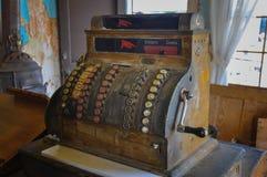 Città antica del cash machine in 1830, Sud Dakota, U.S.A. Fotografie Stock Libere da Diritti