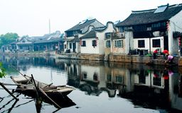 Città antica del Villaggio-Xitang dell'acqua Immagini Stock Libere da Diritti