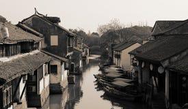 Città antica dell'acqua di Zhouzhuang, Cina Fotografia Stock