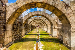Città antica dell'agora, Smirne Immagine Stock