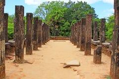 Città antica della camera del Consiglio del ` s di Polonnaruwa - patrimonio mondiale dell'Unesco dello Sri Lanka Immagini Stock Libere da Diritti