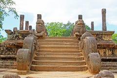 Città antica della camera del Consiglio del ` s di Polonnaruwa - patrimonio mondiale dell'Unesco dello Sri Lanka Fotografie Stock