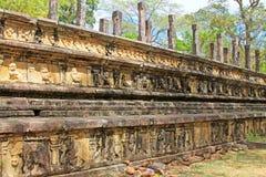 Città antica della camera del Consiglio del ` s di Polonnaruwa - patrimonio mondiale dell'Unesco dello Sri Lanka Immagine Stock Libera da Diritti