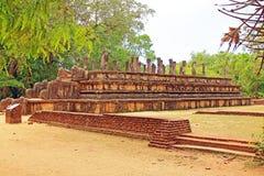 Città antica della camera del Consiglio del ` s di Polonnaruwa - patrimonio mondiale dell'Unesco dello Sri Lanka Fotografia Stock Libera da Diritti