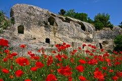 Città antica della caverna Immagini Stock
