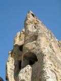 Città antica della caverna in Goreme, Cappadocia, Turchia Immagine Stock