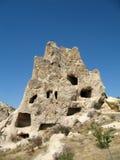 Città antica della caverna in Goreme, Cappadocia, Turchia Fotografia Stock Libera da Diritti