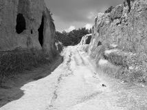 Città antica della montagna fotografia stock