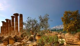 Città antica di Agrigento fotografia stock