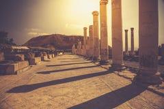 Città antica di beit shean Fotografie Stock