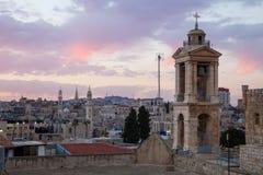 Città antica di Betlemme dal tetto Fotografia Stock