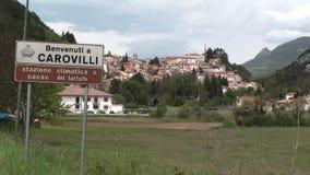 Città antica di Carovilli, Isernia video d archivio