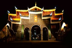 Città antica di Fenghuang, come città storica e culturale nazionale, la prima serie di forti contee turistiche in Cina immagine stock