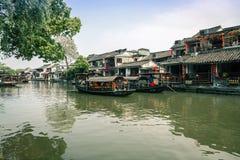 Città antica di Jiang Jiangnan nella provincia di Xitang Fotografie Stock