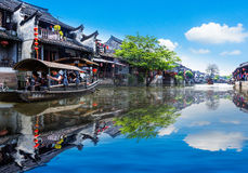 Città antica di Jiang Jiangnan nella provincia di Xitang Fotografie Stock Libere da Diritti