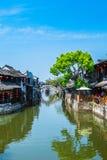 Città antica di Jiang Jiangnan nella provincia di Xitang Fotografia Stock