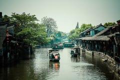 Città antica di Jiang Jiangnan nella provincia di Xitang Immagini Stock