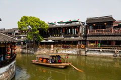 Città antica di Jiang Jiangnan nella provincia di Xitang Fotografia Stock Libera da Diritti