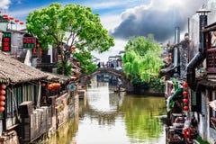 Città antica di Jiang Jiangnan nella provincia di Xitang Immagini Stock Libere da Diritti