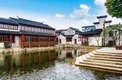 Città antica di Jiang Jiangnan nella provincia di Xitang Immagine Stock Libera da Diritti