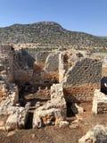 Città antica di Lycian alla Turchia Civilizzazione di Lycian immagine stock