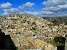 Città antica di Matera Fotografie Stock Libere da Diritti