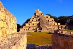 Città antica di maya di Edzna VI Immagini Stock