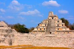 Città antica di maya di Edzna XII Fotografie Stock Libere da Diritti
