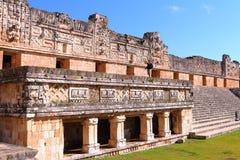 Città antica di maya di Uxmal XX Fotografie Stock