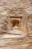 Città antica di PETRA, Giordania immagini stock libere da diritti
