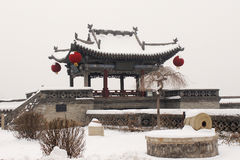 Città antica di Ping Yao nell'inverno Fotografia Stock Libera da Diritti
