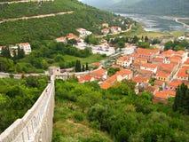 Città antica di Ston - nel sud della Croazia Fotografie Stock Libere da Diritti
