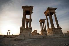 Città antica in Palmira Immagine Stock