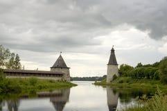 Città antica Pskov. La Russia Immagini Stock Libere da Diritti