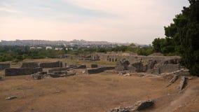 Città antica Salona, secolo della Croazia 7 BC video d archivio
