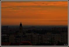 Città arancio immagine stock