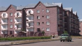 Città Armenia di Spitak stock footage